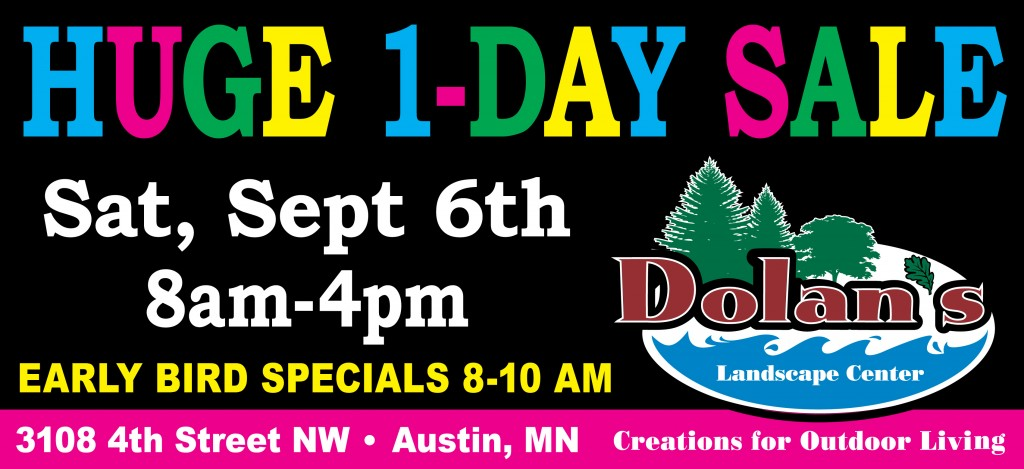 Dolans Billboard One-Day Sale 9-14