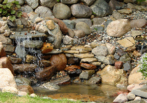 backyard-waterfall
